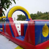 Factory price newest design customized sport tunnels high quality durable PVC tarpaulin inflatable sports game