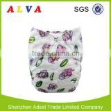 Alva Crayon Style Flowers Baby Diapers Cloth Diaper Factory in China