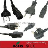 3 PINS Brazil power cable standard power cord electrical plug