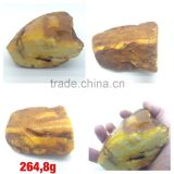 Polished Natural Baltic Amber stones weight 264.8 g., Amber raw stone