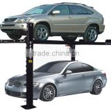 Four Post Car Parking lift manual single side release system with 4 post parking lift rain coat for choice