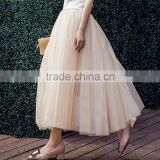 Women's A Line Maxi Length Tutu Tulle Prom Party Skirt Big Bottom Summer Skirt