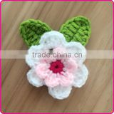 Handmade crochet flower appliques patterns