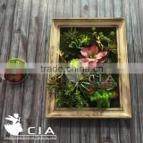 Artificial Plant Wall Art , Household Decoration Green Wall Art , Wood Framed Wall Art for Home Decor