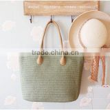 Handmade beautiful wholesale straw beach bag ,women fashion holiday vocation straw handbag