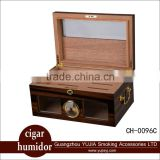 guangzhou yujia Display Cigar box Spanish Cedar wood Cigar Cabinet Humidor with handle Cigar humidifier and Hygrometers