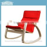 Red Bent plywood armchair chaise longue leisure chair