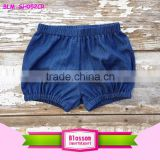 Denim Bloomers Blue Baby Bubble Shorts Denim Diaper Cover Summer Shorts Nappy Cover Kids Bloomers Summer Outfit Baby Shower Gift