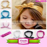 2016 Fashion Metallic Messy Flashing Various Color Bow Baby Headband Fancy Sliver Gold Knot Elastic Baby Child Stretch Headbands