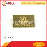 Shiny gold rectangle shaped metal brand logo labels design                                                                         Quality Choice