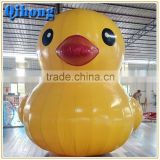 2016 Advertise inflatable cartoon inflatable ducks model inflatable yellow duck for sea lake pool