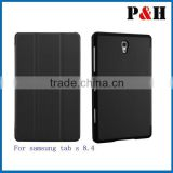 Book Flip PU Leather stand Case Cover For Samsung Galaxy Tab S 8.4 T705C T700