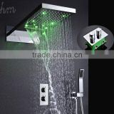 water pressure control led shower panel bathroom ss shower system thermostatic shower mixer rain shower head