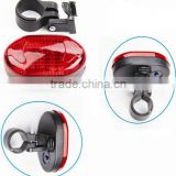 High Intensity Red 5 LED Bike - Bicycle - Cycling Flashing Rear Safety Tail Light