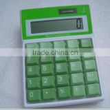 MANUFACTURER new design cheap colorful button dual power table & desk calculator for promotion gifts
