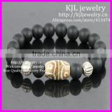 KJL-BD5220 Hot Selling Matte Onyx Agate round beads Bracelet White Jade beads Stretch bracelet