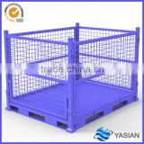 China supplier forklift metal foldable cage pallets