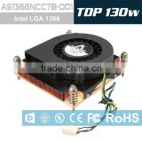 Alseye manufacturer BA0107 cpu water cooling dynatron fan with copper fin and copper basa