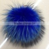 2016/2017 Fluffy Wholesale 15cm Colorful Raccoon Fur Pom Poms for Beanie Hats Fur Ball with Keychain Fur Pompons