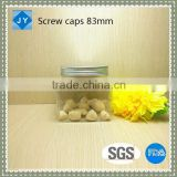 83 mm aluminum/ pp plastic srew caps for olive oil/ spice/cosmetic/candy/honey/jam/hair production/beauty cream