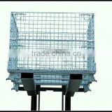 logistics storage mesh cage with forklift track Image
