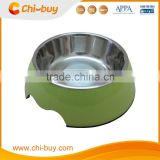 "Chi-buy Green Detachable Dual Melamine Pet Bowl antiskid Dog cat food water Bowl,S Size:3.93""LX5.51""WX1.77""H"