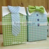 Baby Shower Gift Favor Boxes My Little Man 3D Bow Tie Shirt Candy Box NEW!!
