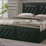 Restore Ancients Black PVC Bed for Small Bedroom