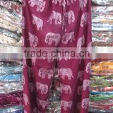 Dissount Price wholesale Indian Harem beggy Pants Loose Elephant design palazzo Pant