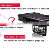 Gps Navigation All Sixe Videos Full HD Car Dvr 170 Degree Wide Angle Recorder With Gps Tracker