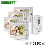 Best Seller 4 Apartments Handsfree Villa 7'' TFT LCD color multi apartment video door phone with CE FCC RoHS PST-VD906C-4K