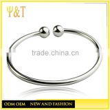 Wholesale hand made stainless steel silver jewelry made of beads adjust bangles bracelets