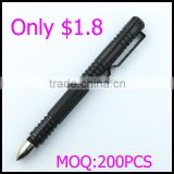 1.8USD Per pic best selling outdoor survival tool self-defense tactical ball pen with stainless steel head attack