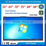 55 65 70 84inch all in one pc interactive flat panel display android led touch screen monitor for office and education