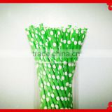 party supplies food grade print straw pack in PVC tube paper drinking straws for wedding party