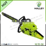 2015 newest green cut chainsaw 5800 with CE/GS/EMC/EU-2 certification
