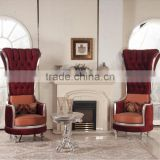 BISINI Fashionable Living Room Set, European Style Queen Throne Sofa Chair, Classic and Royal High Back Chair (BF01-X1196)