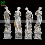 Colorful Marble Garden Four Season Woman Statues