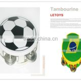 Hot Selling Football Fans Tambourine/Musical Timbrel Hand Drum
