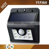8 LED Solar Garden Light Gate Light 1.8W solar powered garden light wireless led wall lamp