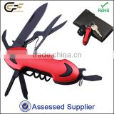 Hot sale 10 in 1 multifuntion pocket knife for promotion gifts