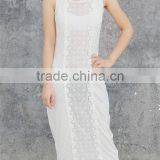 Unique top rated sleeveless cotton crochet maxi dress