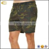2017 NEW High Quality Custom Logo Mens Camouflage Printed Elastic Waistband Swimming Trunks