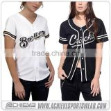 MLB softball / baseball jersey,sublimated custom blank baseball jersey/shirt/uniforms wholesale