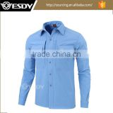 Aqua(water) Blue Outdoor Sports Waterproof Windproof Softshell Tactical Fleece Shirt Warm