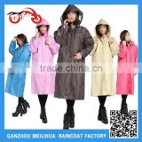 2016 Ladies Sexy Nylon PVC Long Raincoat Designer Rain Ponchos Cheap