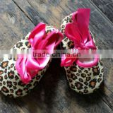 cheetah/leopard printed newborn baby crib shoes baby shoes infant shoes toddlers shoes