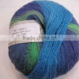 hand knitting yarn with 70%wool,30%nylon blended good quality and reasonable price soft needle yarn