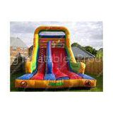 Commercial Outdoor Inflatable Water Slides With Double Lane For Playground
