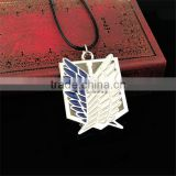 Japanese Anime Attack On Titan Necklace Promotion Gift Anime Necklace Hot selling Attack On Titan cosplay accessory